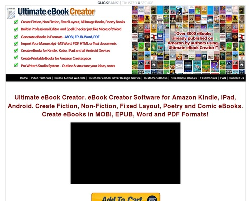 eBook Creator Software – Ultimate eBook Creator For Amazon Kindle