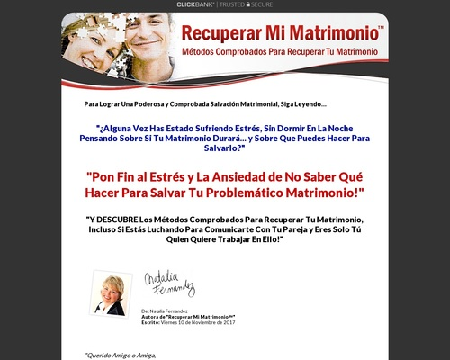 Recuperar Mi Matrimonio™ | Métodos Comprobados Para Recuperar Tu Matrimonio