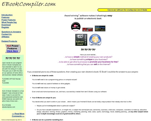 eBook Compiler Software: create your own eBooks