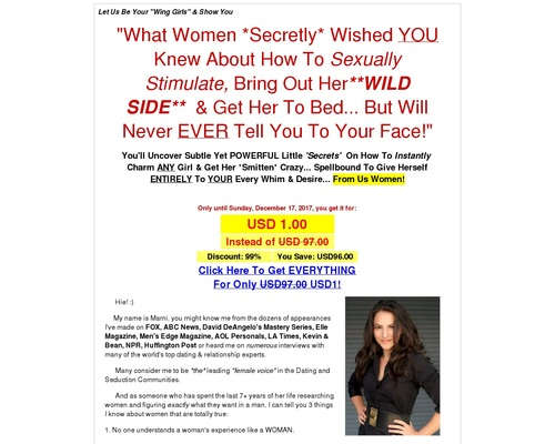 Wing Girl Secrets – How to Bring Out Her the Wild Side |