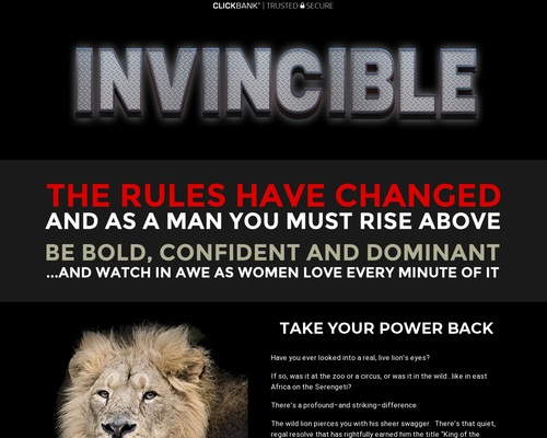 Invincible | Bold, Confident And Dominant | Scot McKay | CB – Deserve What You Want Landing