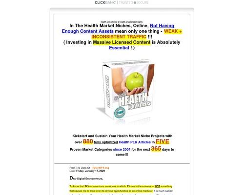 Health PLR Articles | Health Private Label Rights